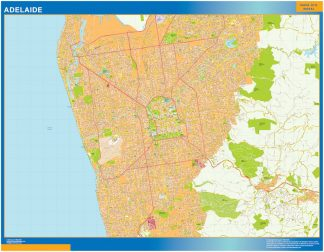 Biggest Adelaide laminated map