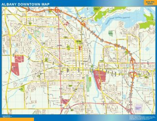 Biggest Albany downtown map