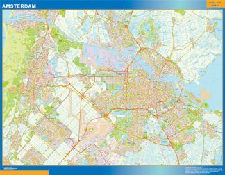 Biggest Amsterdam map in Netherlands