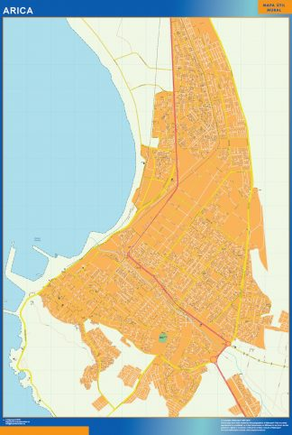 Biggest Arica map from Chile