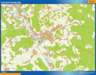 Biggest Aschaffenburg map in Germany