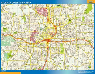 Biggest Atlanta downtown map