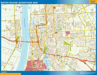 Biggest Baton Rouge downtown map