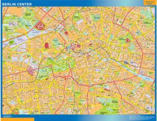 Biggest Berlin downtown map