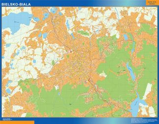 Biggest Bielsko Biala map Poland