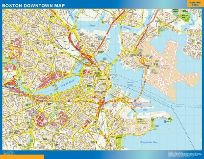 Biggest Boston downtown map