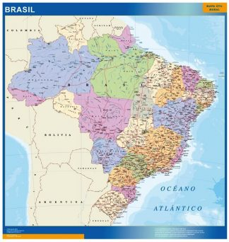 Biggest Brazil map