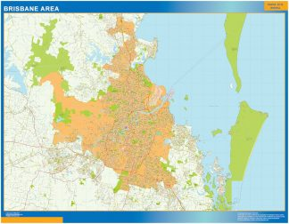 Biggest Brisbane area laminated map