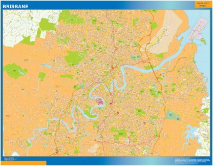 Biggest Brisbane laminated map