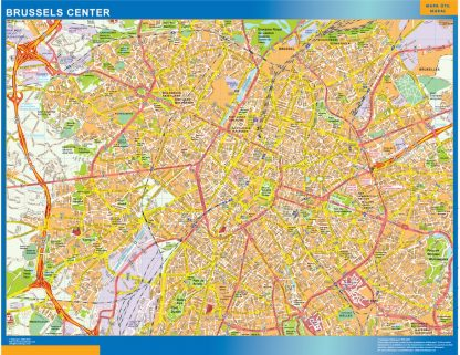 Biggest Brussels downtown map