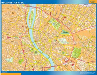 Biggest Budapest downtown map