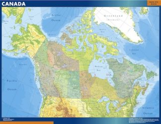 Biggest Canada map