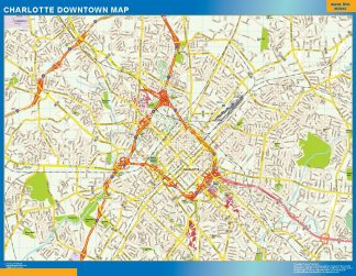 Biggest Charlotte downtown map