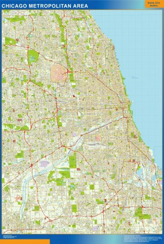Biggest Chicago wall map