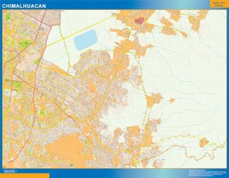 Biggest Chimalhuacan map Mexico