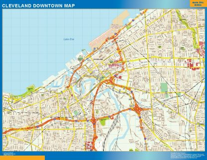Biggest Cleveland downtown map