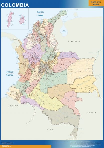 Biggest Colombia map