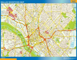 Biggest Dallas downtown map