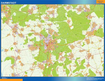 Biggest Darmstadt map in Germany