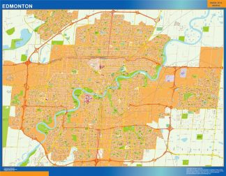 Biggest Edmonton wall map