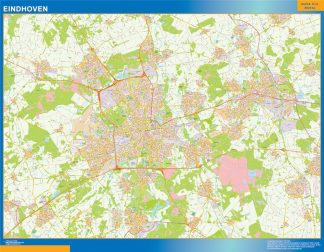 Biggest Eindhoven map in Netherlands
