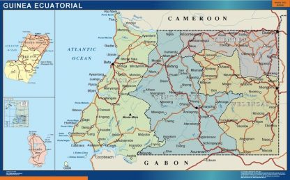 Biggest Equatorial Guinea map