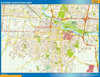 Biggest Eugene downtown map