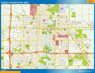Biggest Fargo downtown map