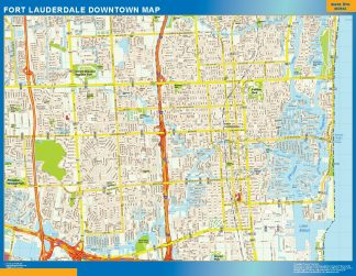 Biggest Fort Lauderdale downtown map