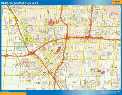 Biggest Fresno downtown map