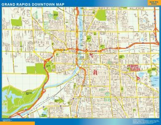 Biggest Grand Rapids downtown map