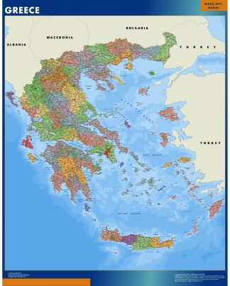 Biggest Greece map