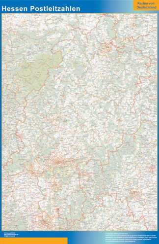 Biggest Hessen zip codes map