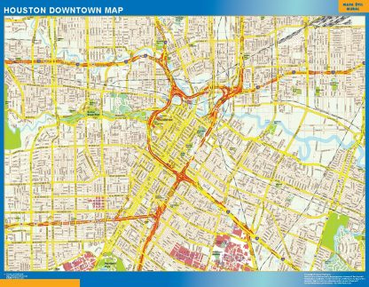 Biggest Houston downtown map