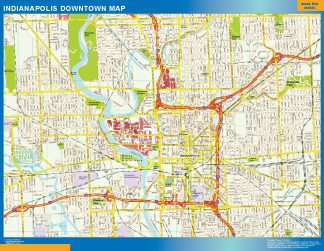 Biggest Indianapolis downtown map