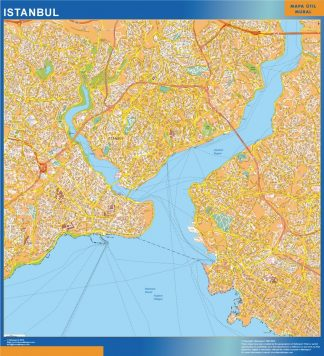 Biggest Istanbul laminated map