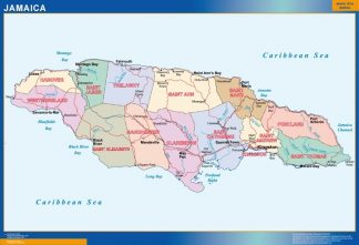 Biggest Jamaica map