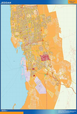 Biggest Jeddah map in Saudi Arabia