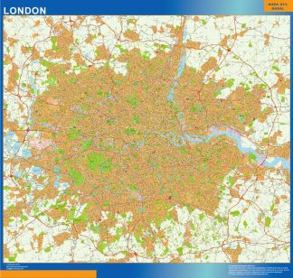 Biggest London Area laminated map