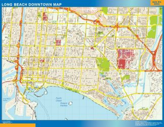 Biggest Long Beach downtown map