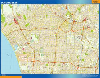 Biggest Los Angeles wall map
