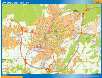 Biggest Luxembourg downtown map