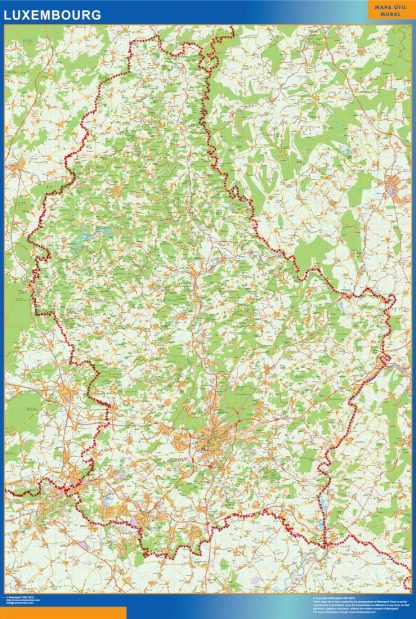 Biggest Luxembourg map