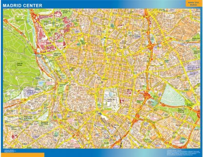 Biggest Madrid downtown map