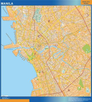 Biggest Manila laminated map