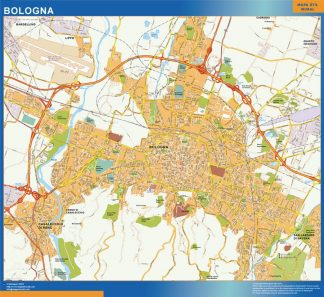 Biggest Map of Bologna city in Italy