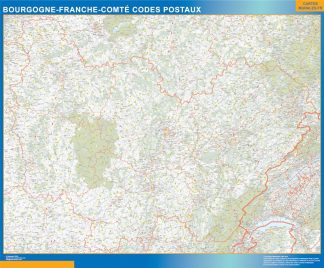 Biggest Map of Bourgogne Franche Comte zip codes