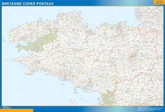 Biggest Map of Bretagne zip codes