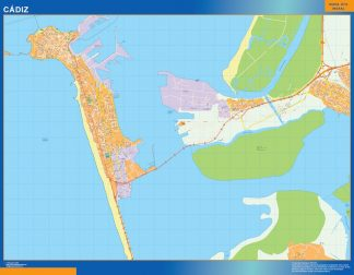Biggest Map of Cadiz Spain
