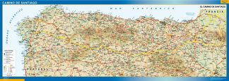 Biggest Map of Camino Santiago
